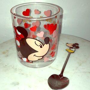 Tokyo Disney Mickey Spoon and Minnie Cup